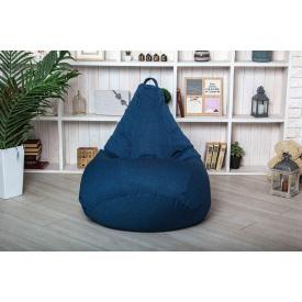 Кресло мешок груша пуфик XL 120х75 Джинс рогожка