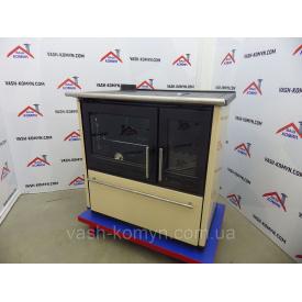 Отопительно-варочная печь Plamen 850 Glas кремовая