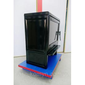 Печь-камин Plamen Barun черная эмаль