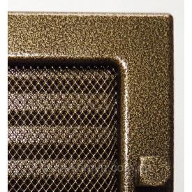 Решітка фарбована для каміна з жалюзі 17/37 см чорно-золотий