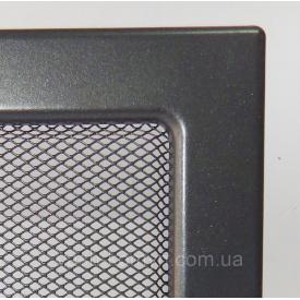 Камінна решітка фарбована 11х24 см графіт