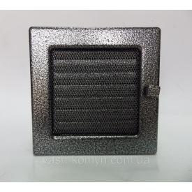 Решітка для каміну з жалюзі 17x17 см чорно-срібний