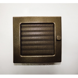 Решітка для каміну з жалюзі 17x17 см чорно-золотий