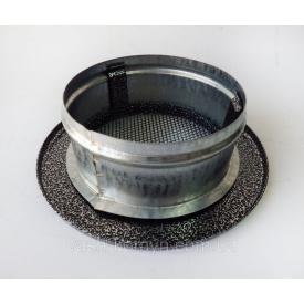 Камінна решітка округла Чорно-Срібна 150