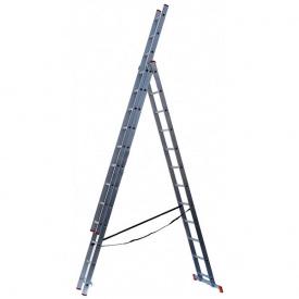 Лестница алюминиевая 3-х секционная Квітка STANDART (3х7 ступеней)