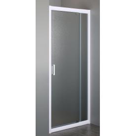 Дверь в нишу 70~80x185 см распашная профиль белый регулируемый стекло Zuzmara 5 мм