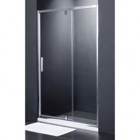 FRAME Душові двері в нішу розпашні - 120*190 - хром/прозоре скло