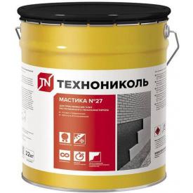 Мастика ТехноНІКОЛЬ № 27 приклеивающая 22 кг