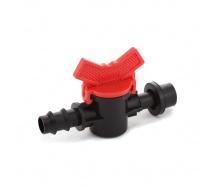 Кран стартовий з гумкою Presto-PS для трубки 16 мм (OV-0416-R)