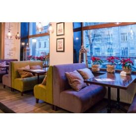 Диван прямой Премьер Мебель для кафе, баров, ресторанов сиреневый