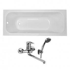 Комплект ALTEA ванна 170x70x44,8 см без ножек + Подарок NARCIZ смеситель для ванны хром L-излив 325 мм