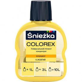 Барвник Sniezka Colorex №13 жовтий 100 мл