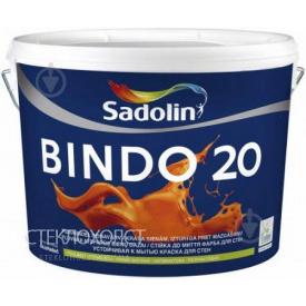 Краска Sadolin BINDO 20 10 л полуматовая для стен и потолков с высокой устойчивостью к мытью