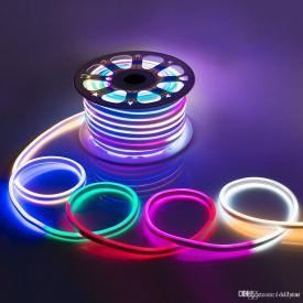 Светодиодный LED гибкий неон PROLUM™ 5050\60 IP68 220V, RGB