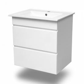 FIESTA Комплект меблів 800 тумба підвісна біла 2 ящика умивальник накладний VOLLE 15-800-01