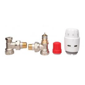 Комплект термостатический угловой Danfoss RAS C2RA NRLV S 1/2 013G2219