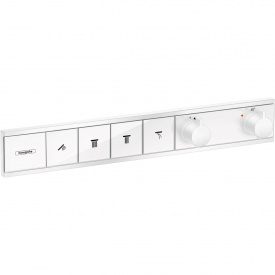 RainSelect Термостат для 4 потребителей скрытого монтажа матовый белый HANSGROHE 15382700
