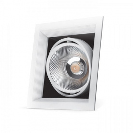 Карданний світильник Feron AL211 COB 30W біла рамка