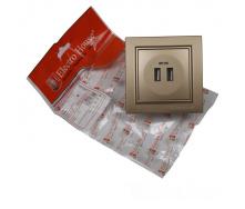 ElectroHouse Розетка USB (2 порта) Роскошно золотой Enzo 2A IP22