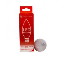 Светодиодная лампа ElectroHouse свеча E27 8W C37 4100K 720Lm