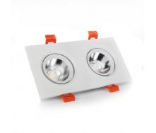 ElectroHouse LED світильник стельовий білий подвійний 5W 45 градус 4100К