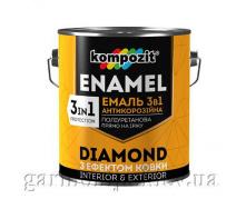 Эмаль антикоррозионная 3 в 1 DIAMOND Kompozit 0,65 л Графит