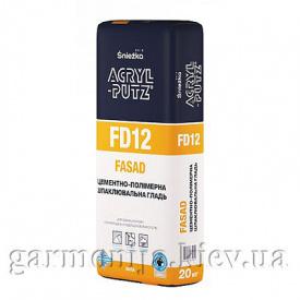 Шпаклевка Sniezka Acryl-Putz FD12 Fasad цементная 20 кг