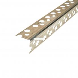Угол перфорированный аллюминиевый 2,5 м 0,21x19x19 мм