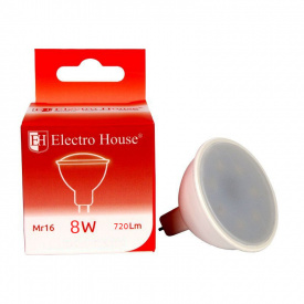 Светодиодная лампа ElectroHouse LED MR16 8W 4100K