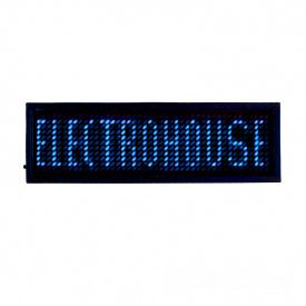 ElectroHouse Электронный Led бейдж синий