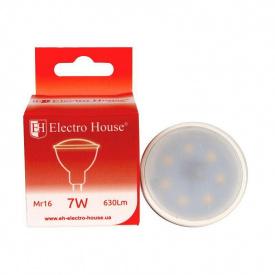 Светодиодная лампа ElectroHouse для точечных светильников MR16 7W 4100K 630Lm