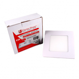 ElectroHouse LED панель квадратная 6W 4100К 540Lm 120х120мм