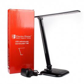 ElectroHouse LED светильник настольный 11W 4100K 7200Lm чёрный