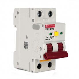 ElectroHouse ДИФ Автомат 16А 1P+N 30mA 4,5kA 230-240V IP20