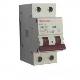 ElectroHouse Автоматический выключатель 2P 10A 4,5kA