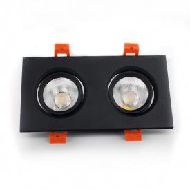 ElectroHouse LED светильник потолочный чёрный двойной 5W 45 градус 4100К