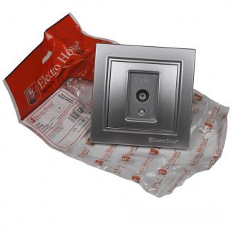 ElectroHouse Розетка телевизионная Серебряный камень Enzo IP22