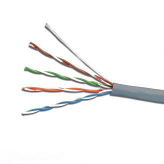 ElectroHouse Кабель UTP 4х2х0,51 Cu серый (внутр монтаж)