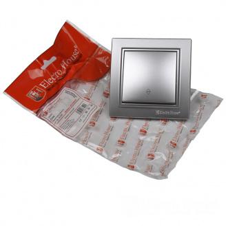 ElectroHouse Выключатель проходной Среребряный камень Enzo IP22