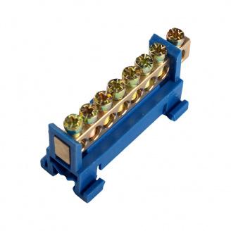 ElectroHouse Шина нулевая 8 отверстий на DIN рейку 100A IP20