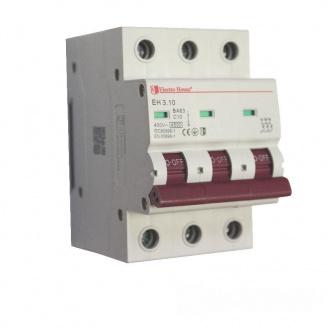 ElectroHouse Автоматический выключатель 3P 10A 4,5kA 230-400V IP20