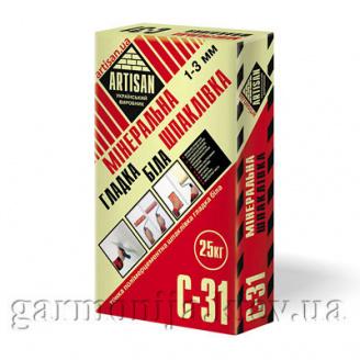 Шпаклівка ARTISAN C-31 цементна гладка 25 кг