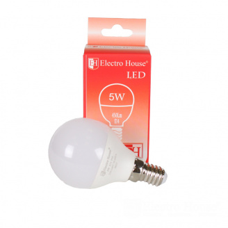 Светодиодная лампа ElectroHouse LED E14 G45 5W