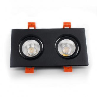 ElectroHouse LED світильник стельовий чорний подвійний 5W 45 градус 4100К