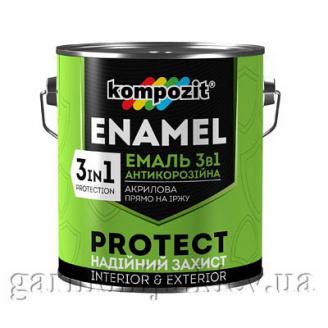 Эмаль антикоррозионная 3 в 1 PROTECT Kompozit 0,75 кг Белый