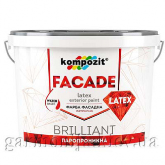 Фасадная краска FACADE LATEX Kompozit 1,4 кг