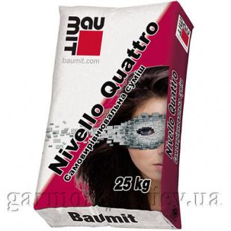 Самовирівнююча суміш Baumit NivelloQuatro (1-20мм) 25 кг