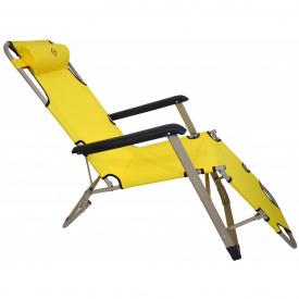 Шезлонг лежак Bonro 180 см жовтий