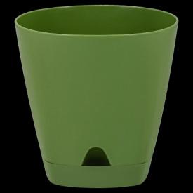 Горшок для цветов AMSTERDAM D 200 с прикорневыми поливом 4 л Оливковый
