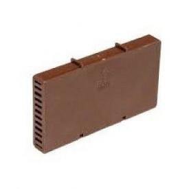 Вентиляційна коробочка 115х60х9 мм коричнева
